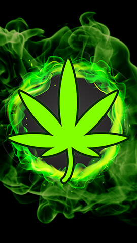 420 Green Flames Wallpaper For Phone ...