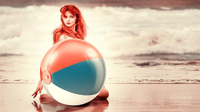Beach Ball Babe