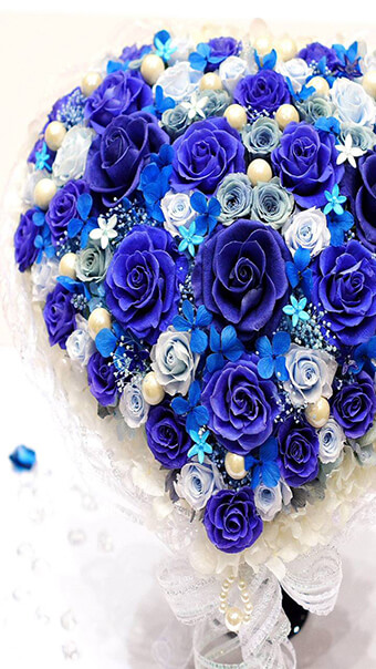 Blue Heart Flowers