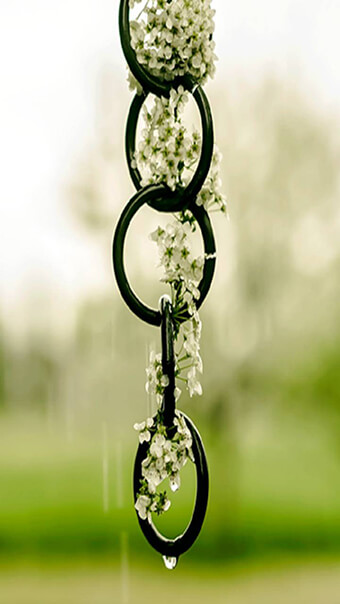 Chain White Flowers