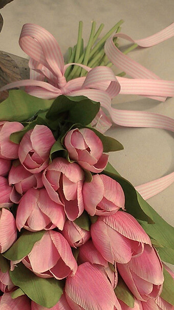 Girly Pink Tulip Flowers