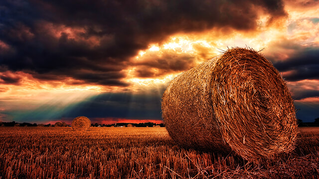 Hay Bale Desktop Wallpaper ...
