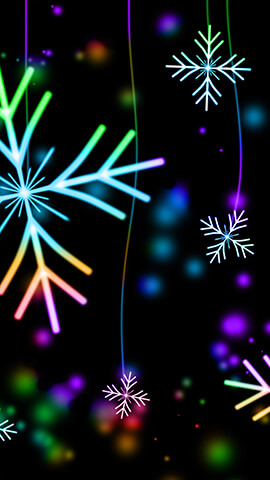 Neon Snowflakes Wallpaper For Phone ...