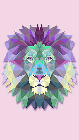 Polygon Lion Head