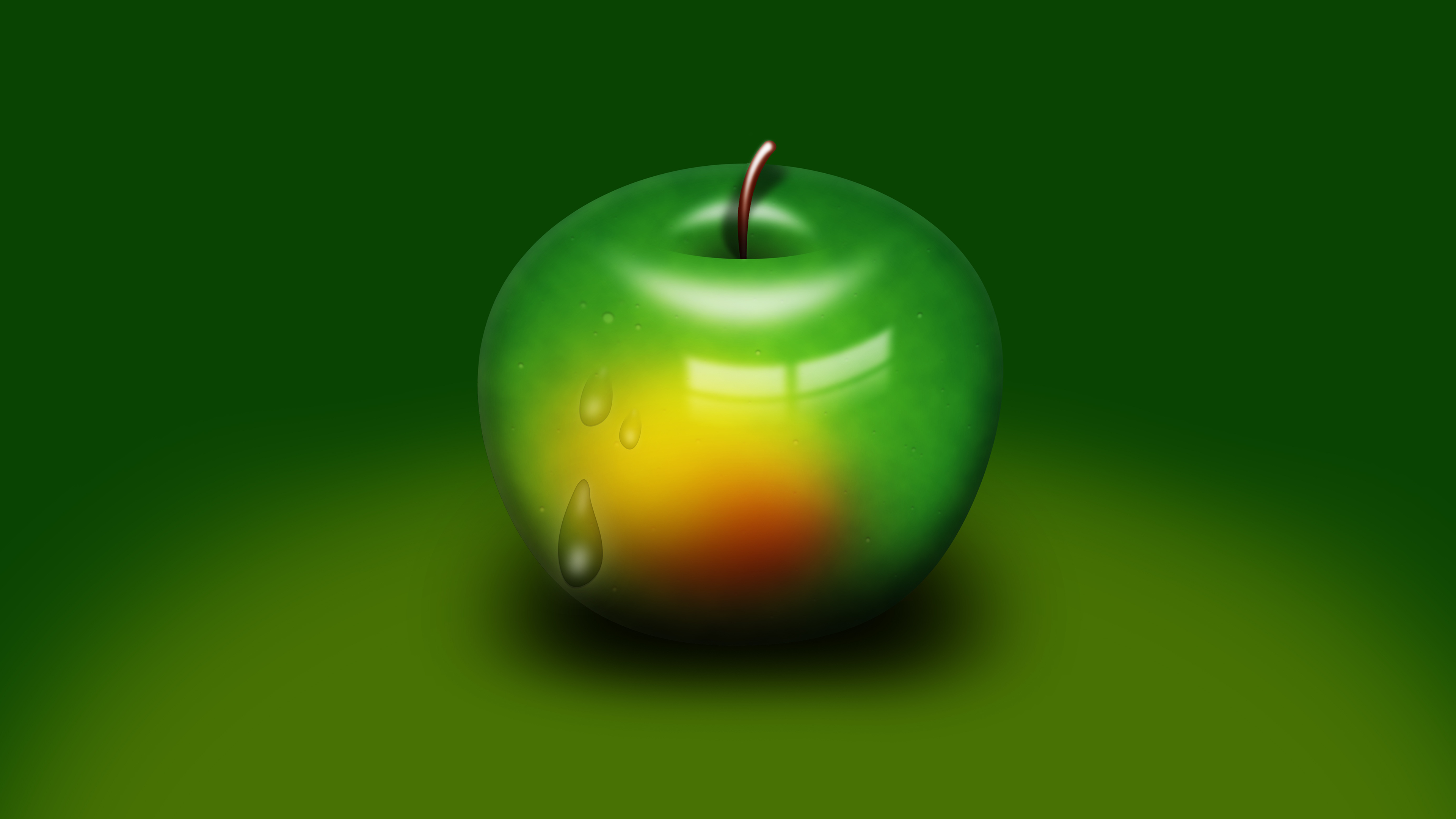 download free hd green apple desktop wallpaper in 4k 0221