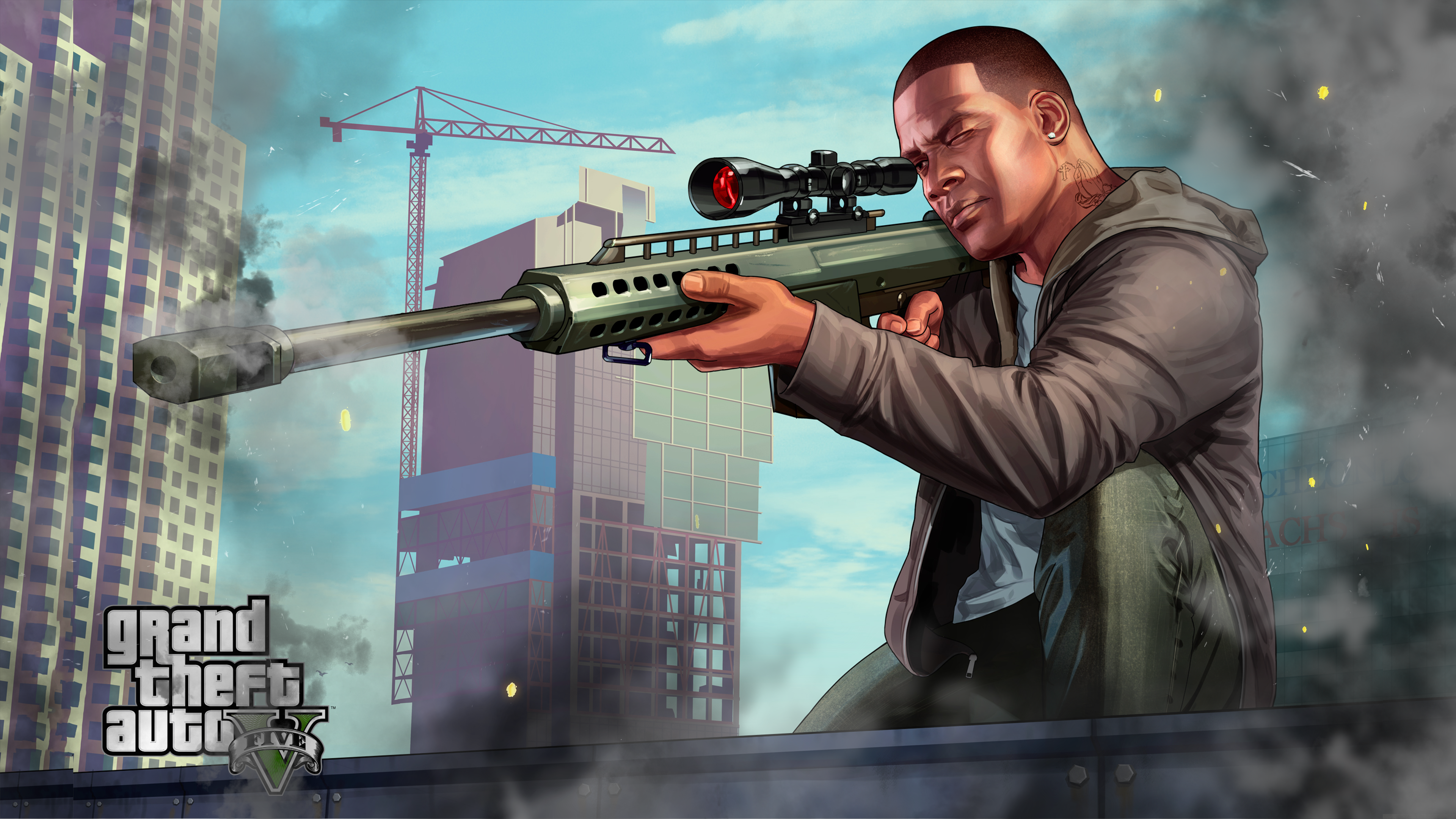 download gta 5 franklin sniping laptop wallpaper in uhd 4k 0232