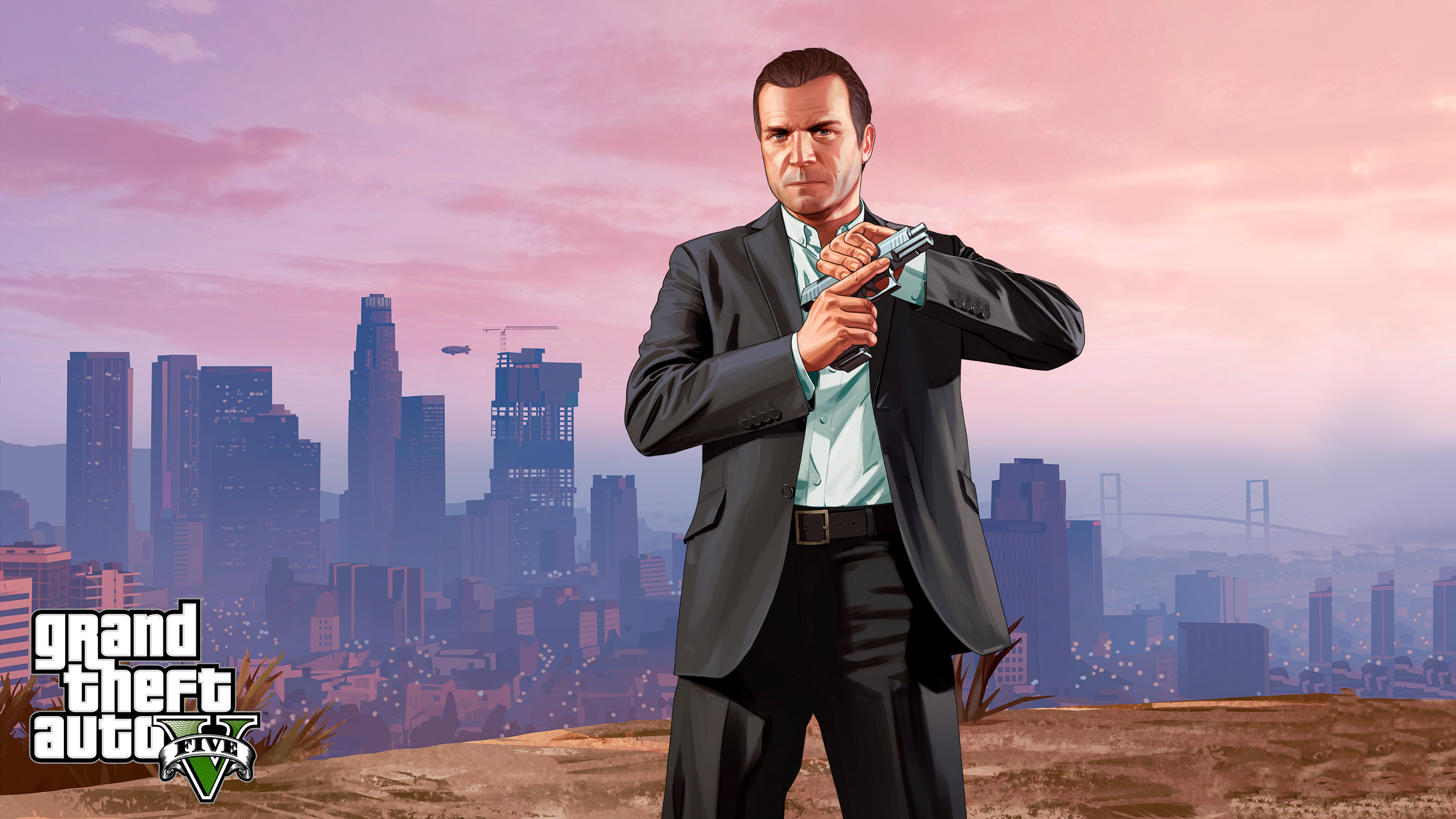 download this free gta 5 michael tablet wallpaper in hd or 4k 0235