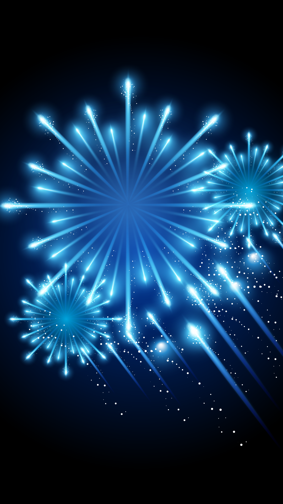 download our hd blue fireworks wallpaper for android phones 0043