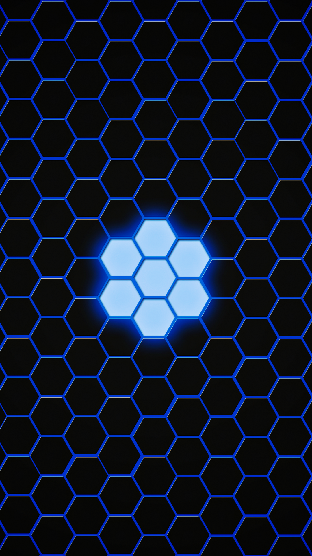 Ultra Hd Blue Hexagon Wallpaper For Your Mobile Phone 0329