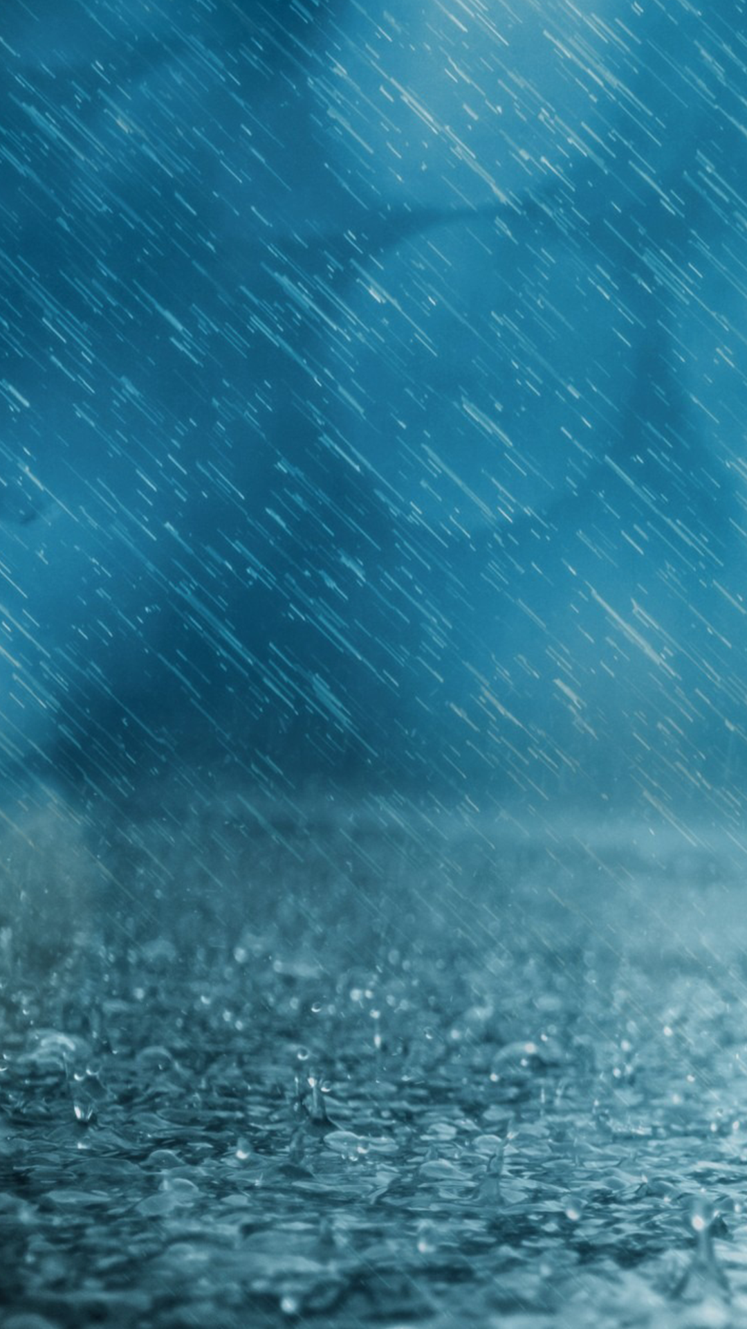 Blue Rain IPhone Wallpaper