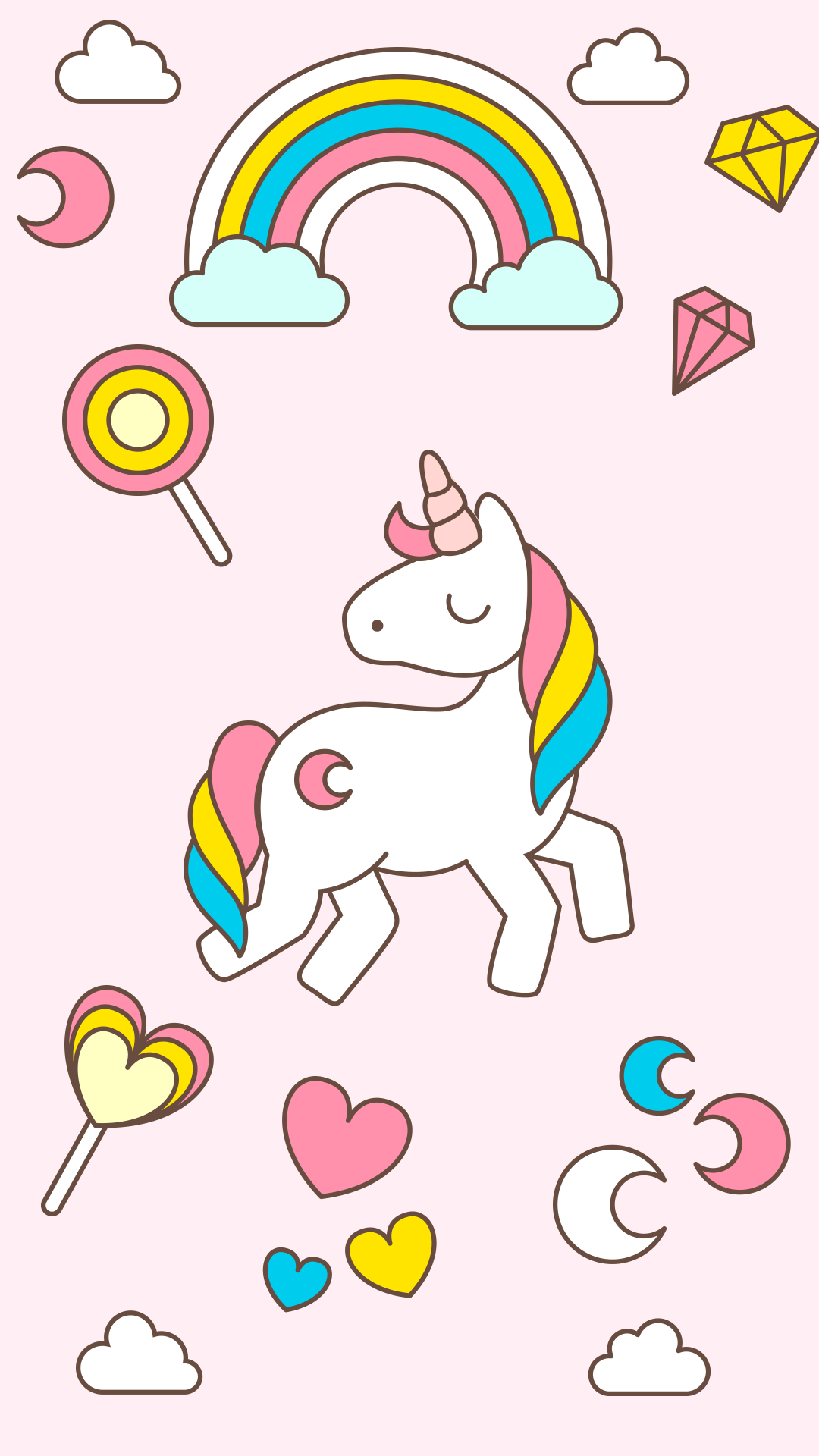 Cute Unicorn IPhone Wallpaper