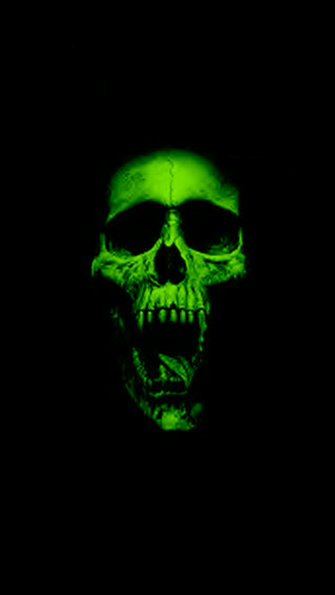 Green Skull IPhone Wallpaper