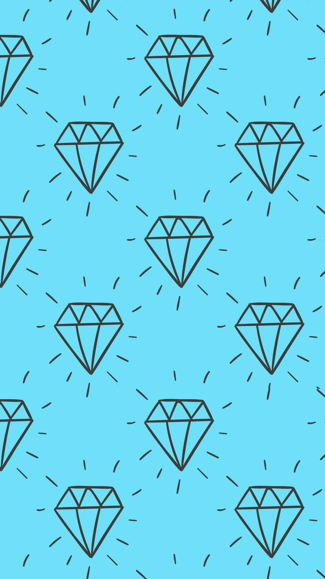 Ultra HD Hand Drawn Diamonds Wallpaper For Your Mobile Phone 0130
