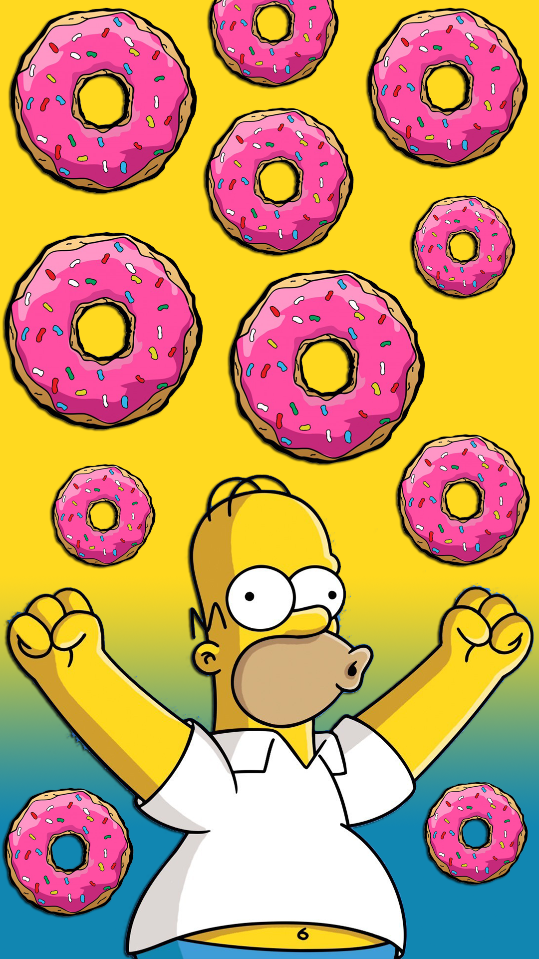 Free Hd Homer Simpson Donuts Iphone Wallpaper For Download 0425