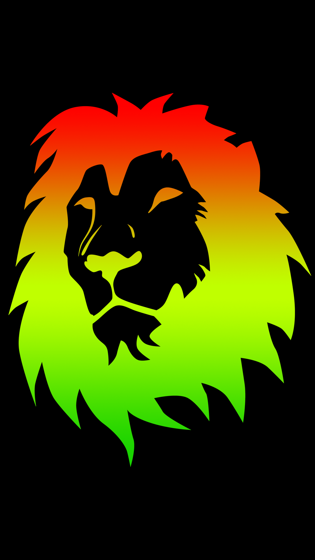Rasta Color Lion 1080 X 1920 FHD Wallpaper