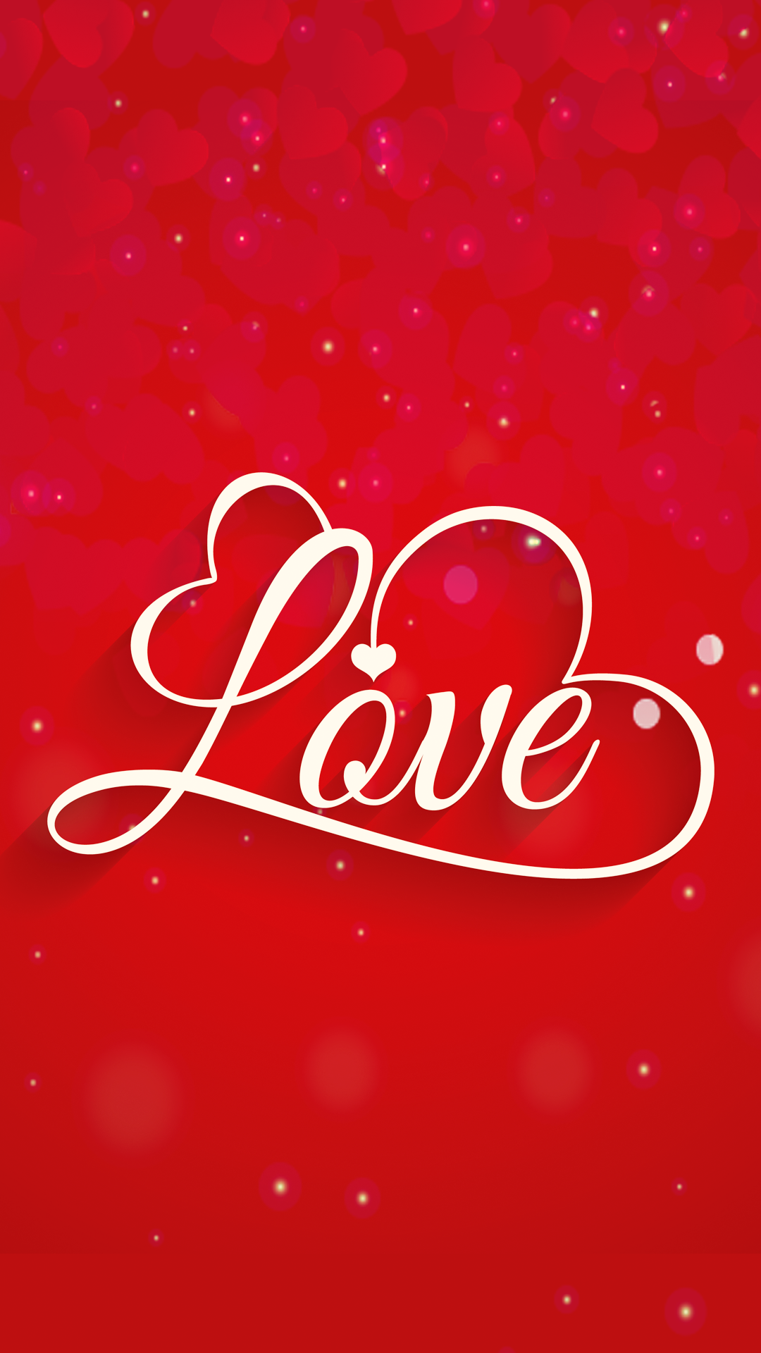 ultra hd red love wallpaper for your mobile phone 0496