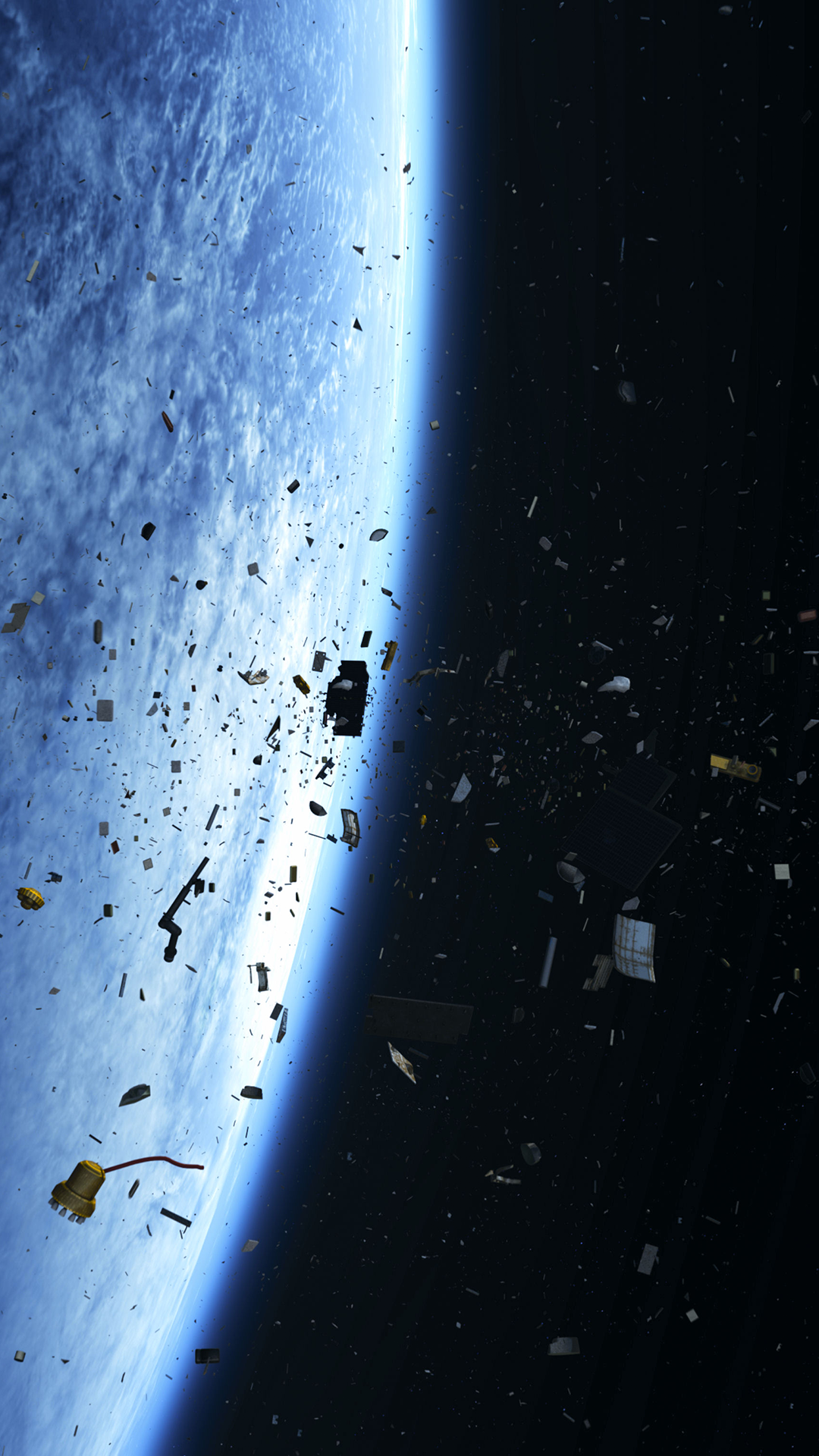 ultra hd space debris wallpaper for your mobile phone 0527