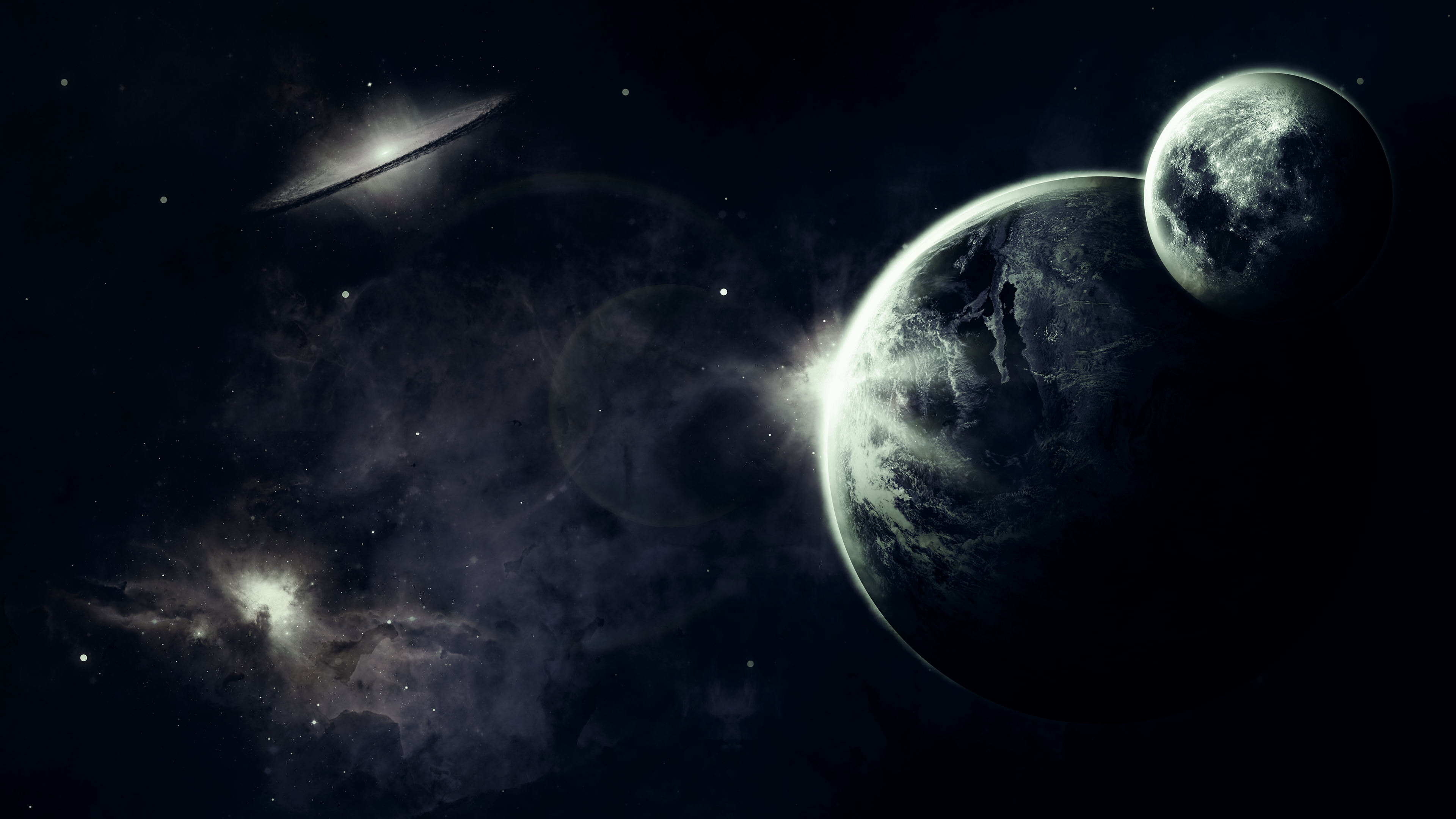 Download dark space laptop wallpaper in uhd 4k 0136 - Dark space hd ...