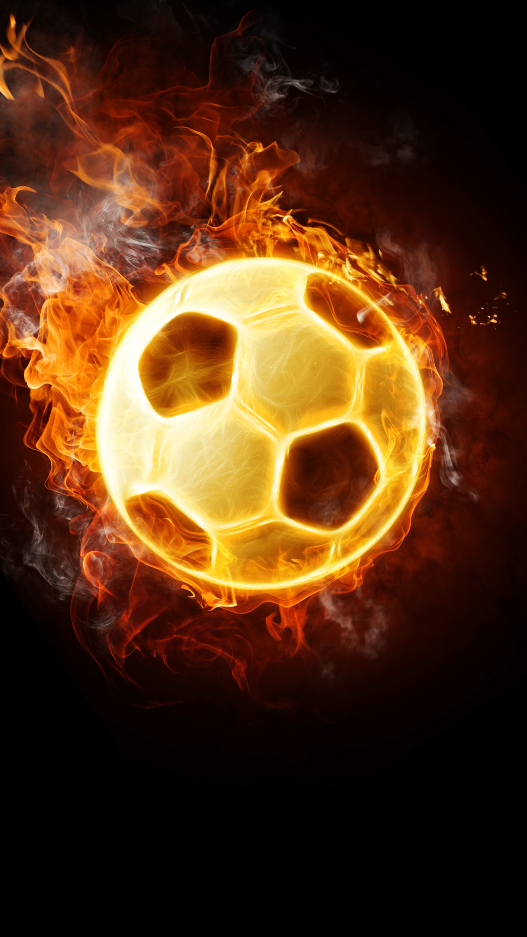 Ultra HD Flaming Football Wallpaper For Your Mobile Phone ...