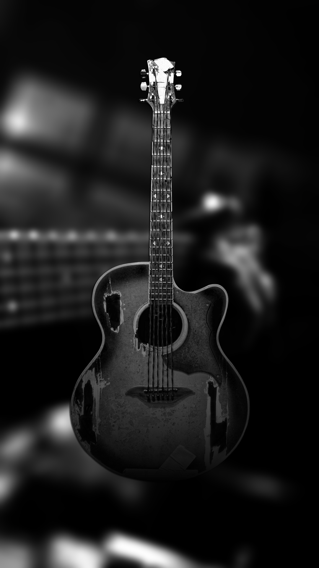 Ultra HD Black Guitar Wallpaper For Your Mobile Phone ...0035