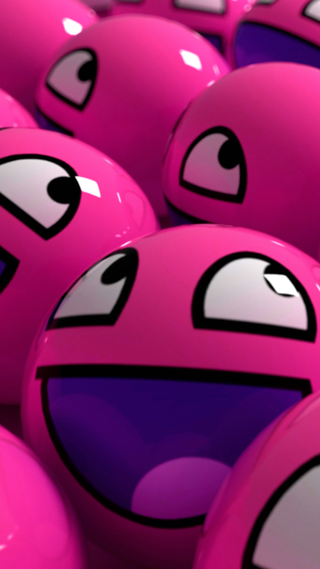 Download Our HD Happy Pink Balls Wallpaper For Android